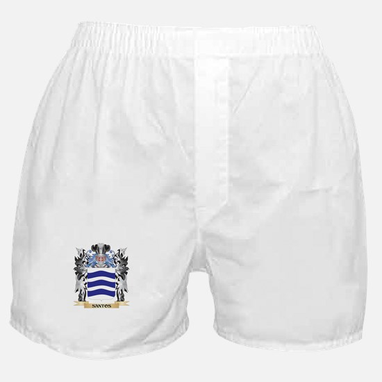 Santos Coat of Arms - Family Crest Boxer Shorts