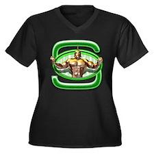 Go Spartans! Women's Plus Size V-Neck Dark T-Shirt