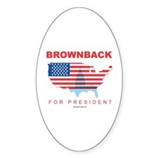 Brownback for President Oval Decal
