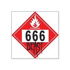 """Unique Atheist symbol Square Sticker 3"""" x 3"""""""
