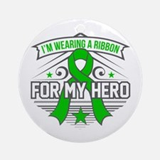 Kidney Disease For My Hero Round Ornament