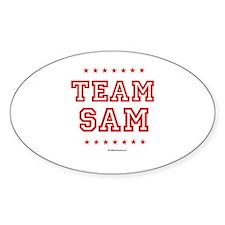 Team Sam Oval Decal