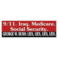 Bush: Lies, Lies, Lies, Lies. (sticker)