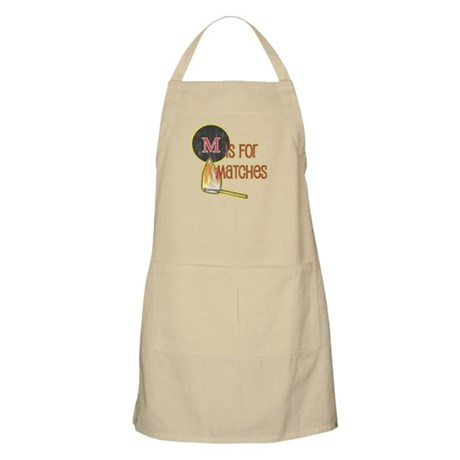 M is for Matches BBQ Apron