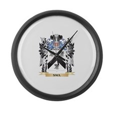 Saul Coat of Arms - Family Crest Large Wall Clock