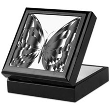 Lighter Metallic Butterfly Keepsake Box