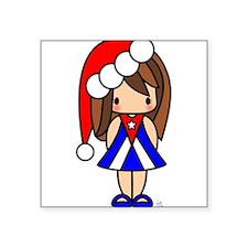 "Cute Santa Square Sticker 3"" x 3"""