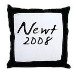 Newt Gingrich Autograph Throw Pillow