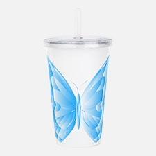 Light Blue Butterfly Acrylic Double-wall Tumbler