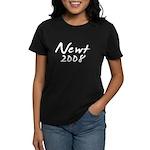 Newt Gingrich Autograph Women's Dark T-Shirt