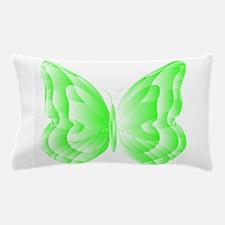 Green Butterfly Pillow Case