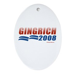 Gingrich 2008 Oval Ornament