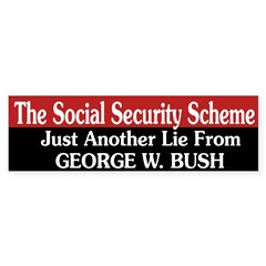 Social Security: Just Another Lie (sticker)