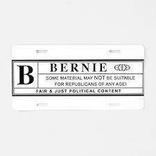 BERNIE SANDERS warning label Aluminum License Plat