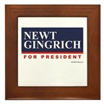 Newt Gingrich for President Framed Tile