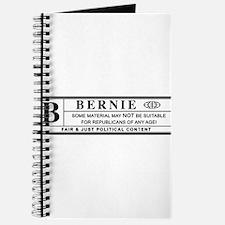 BERNIE SANDERS warning label Journal