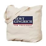 Newt Gingrich for President Tote Bag