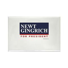 Newt Gingrich for President Rectangle Magnet (10 p