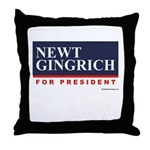Newt Gingrich for President Throw Pillow