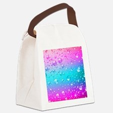Cute Hot pink Canvas Lunch Bag