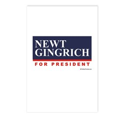 Newt Gingrich for President Postcards (Package of