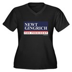 Newt Gingrich for President Women's Plus Size V-Ne