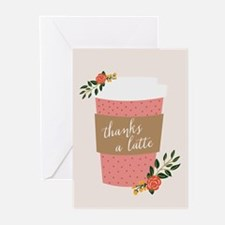 Cute Thanks a latte Greeting Cards (Pk of 20)