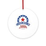 Gingrich 2008 Ornament (Round)