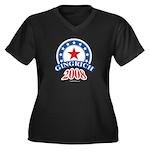 Gingrich 2008 Women's Plus Size V-Neck Dark T-Shir