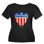 Gingrich Women's Plus Size Scoop Neck Dark T-Shirt