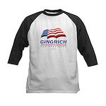 Gingrich for President Kids Baseball Jersey