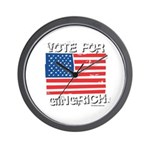 Vote for Gingrich Wall Clock
