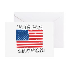 Vote for Gingrich Greeting Card