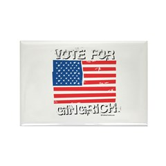 Vote for Gingrich Rectangle Magnet (100 pack)