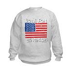 Vote for Gingrich Kids Sweatshirt