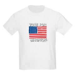 Vote for Gingrich Kids Light T-Shirt