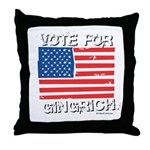 Vote for Gingrich Throw Pillow