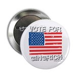 Vote for Gingrich Button