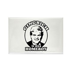 Gingrich is my homeboy Rectangle Magnet (10 pack)