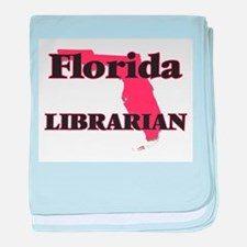 Florida Librarian baby blanket