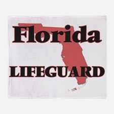 Florida Lifeguard Throw Blanket