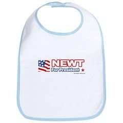 Newt for President Bib