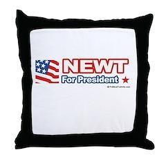 Newt for President Throw Pillow