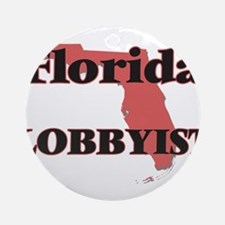 Florida Lobbyist Round Ornament