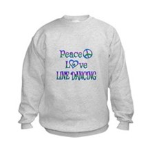 Peace Love Line Dancing Sweatshirt