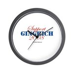 Support Gingrich Wall Clock