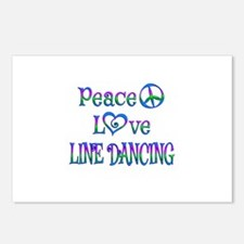 Peace Love Line Dancing Postcards (Package of 8)