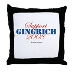 Support Gingrich Throw Pillow
