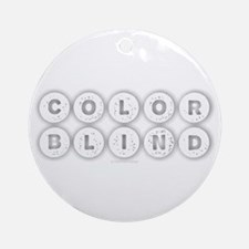 Colorblind Round Ornament