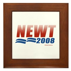 Newt 2008 Framed Tile